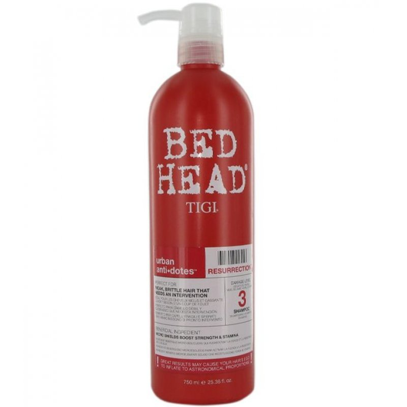 tigi bed head urban anti dotes resurrection shampoo 750ml. Black Bedroom Furniture Sets. Home Design Ideas