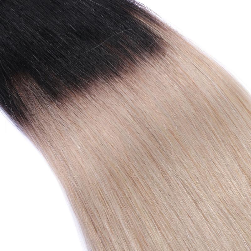 25 keratin bonding hair extensions 1b grey ombre 100 echthaar 0. Black Bedroom Furniture Sets. Home Design Ideas