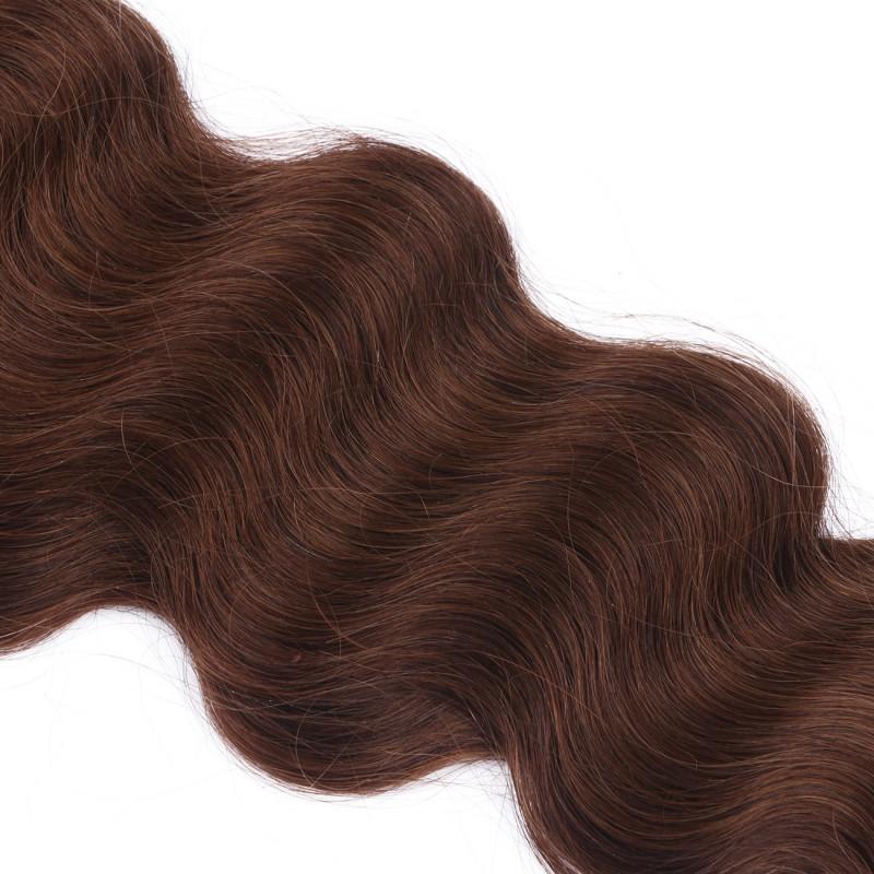 25 keratin bonding hair extensions 4 schokobraun. Black Bedroom Furniture Sets. Home Design Ideas