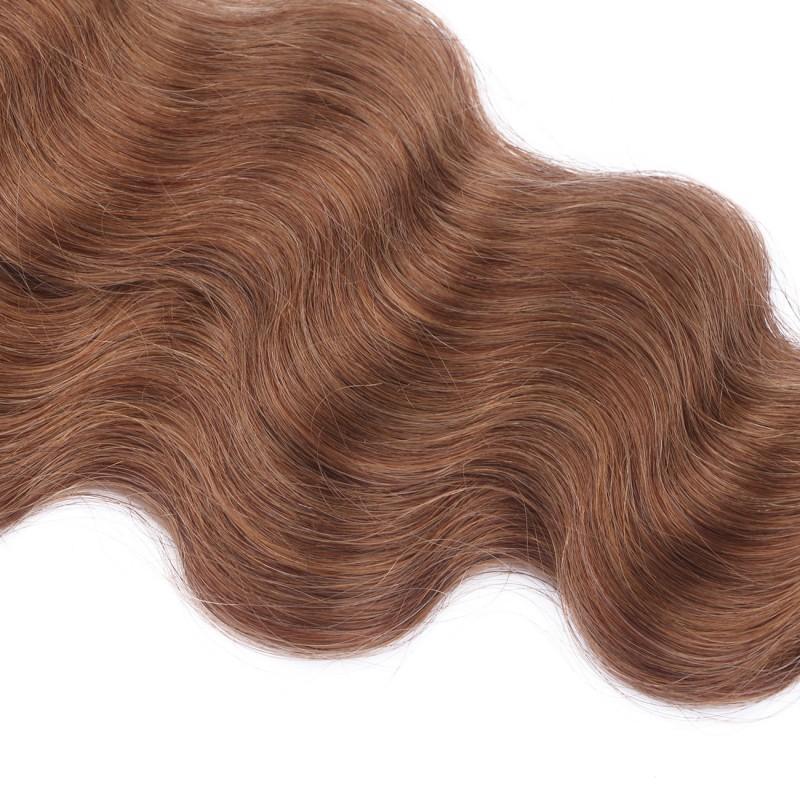 25 keratin bonding hair extensions 8 goldbraun gewellt 100 echtha. Black Bedroom Furniture Sets. Home Design Ideas
