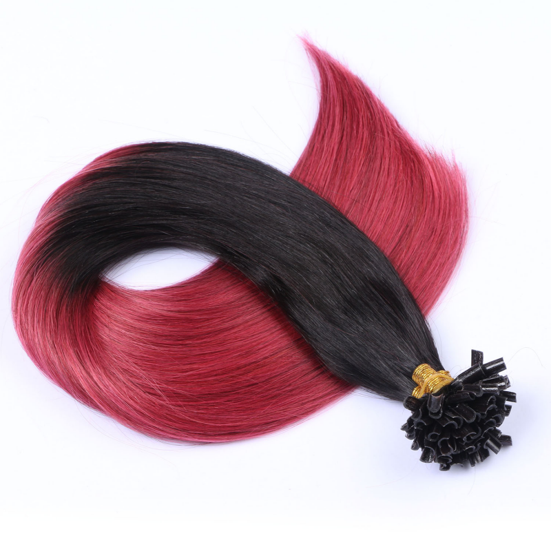25 keratin bonding hair extensions 1b burg ombre 100 echthaar 0. Black Bedroom Furniture Sets. Home Design Ideas