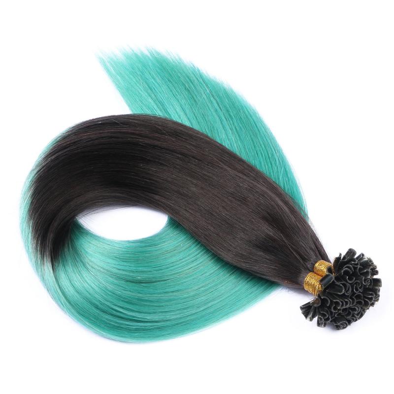 25 keratin bonding hair extensions 1b sky ombre 100. Black Bedroom Furniture Sets. Home Design Ideas