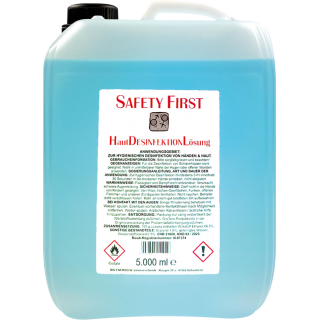 Safety First Haut Desinfektion Lösung 5000ml - antibakteriell Hygiene