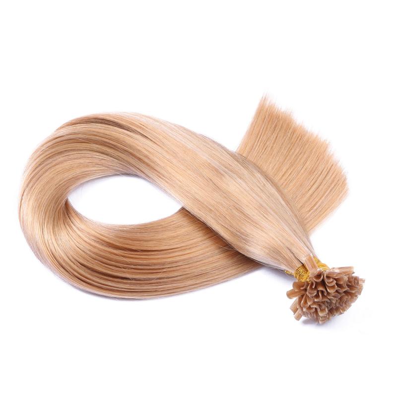 25 keratin bonding hair extensions 20 aschblond 100. Black Bedroom Furniture Sets. Home Design Ideas
