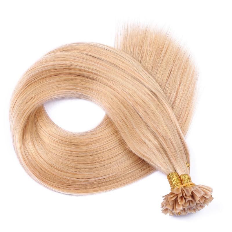 25 keratin bonding hair extensions 18 naturaschblond. Black Bedroom Furniture Sets. Home Design Ideas