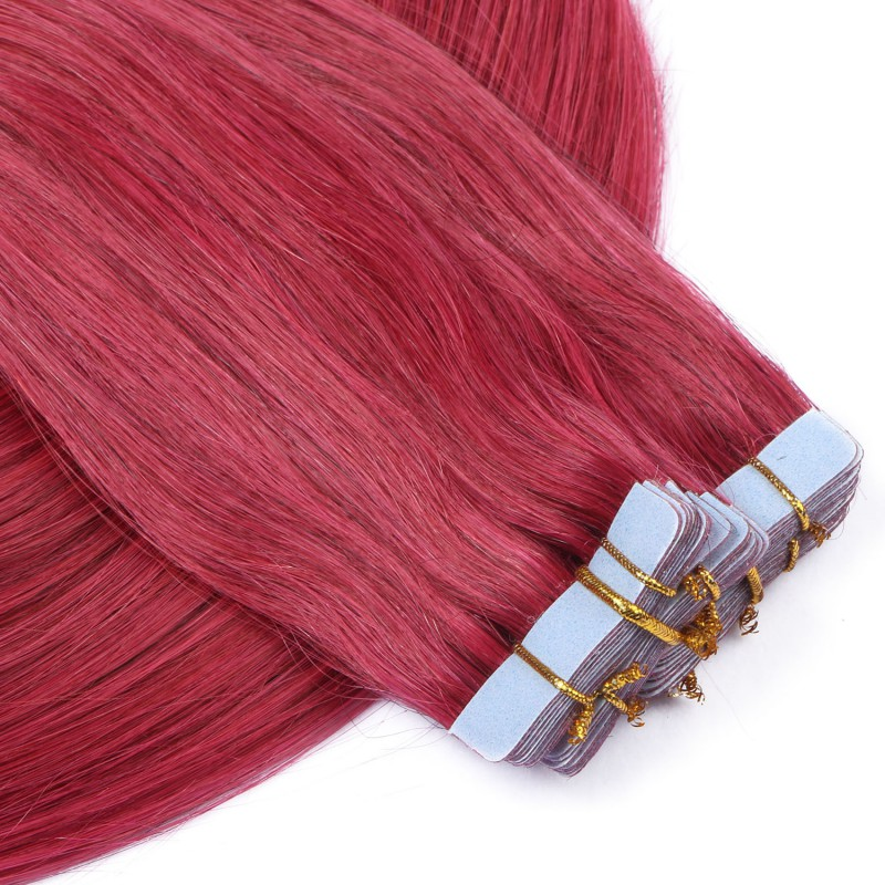 10 x tape in burg hair extensions 2 5g novon extentions 40 cm. Black Bedroom Furniture Sets. Home Design Ideas